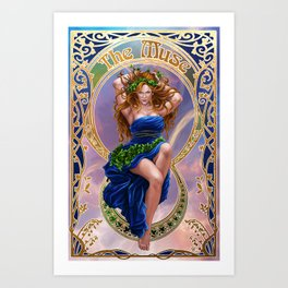 The Muse Art Print