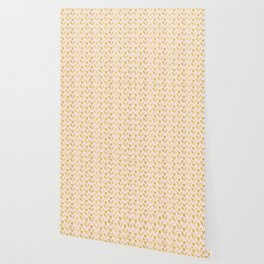 Luxe Rose Gold Foil Christmas Holly Berries Heart Pattern, Seamless Wallpaper