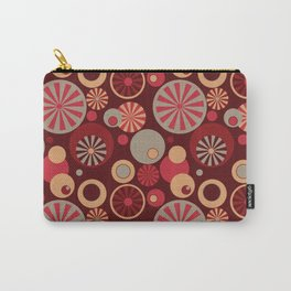Circle Frenzy - Red Carry-All Pouch