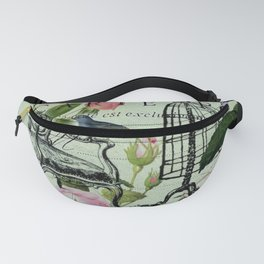 botanical butterfly garden roses french mannequin fashion paris Fanny Pack