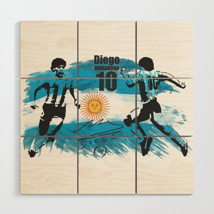 Diego Vs Diego Wood Wall Art
