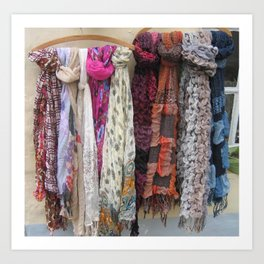 Scarves by Marie Art Print