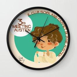 Jane Austen 3RD meeting Austen Wall Clock