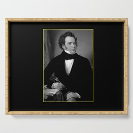 August rieder-Portrait of Schubert Serving Tray