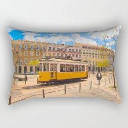 tram . electrico Rectangular Pillow