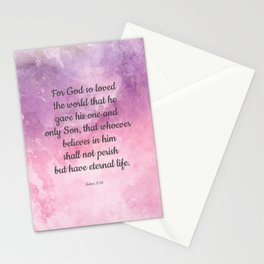 John 3:16, For God So Loved the World Scripture Stationery Cards