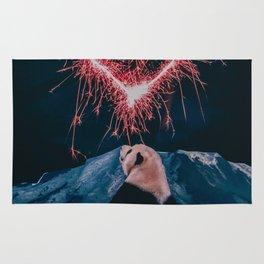 Panda and fireworks Rug