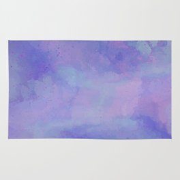 Watercolour Galaxy - Purple Speckled Sky Rug