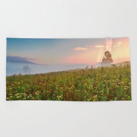 Misty Canaan Valley Sunrise Beach Towel