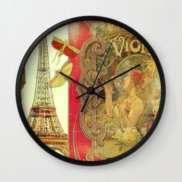 The Crickets of Paris Wall Clock