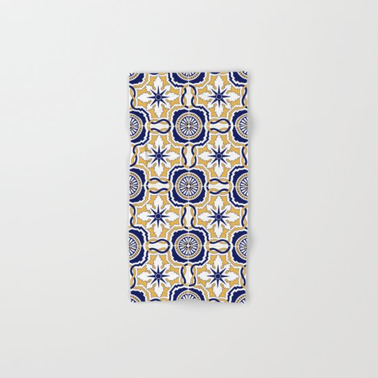 Portuguese Tiles Hand & Bath Towel