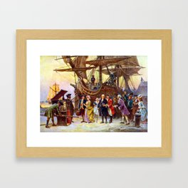 Ben Franklin Returns To Philadelphia Framed Art Print