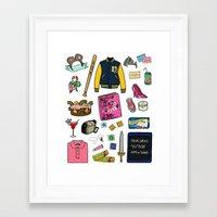 mean girls Framed Art Prints featuring Mean Girls by Shanti Draws
