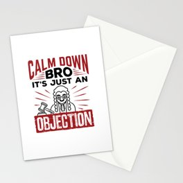 Mock Trial Calm Down Bro It's Just an Objection Stationery Cards