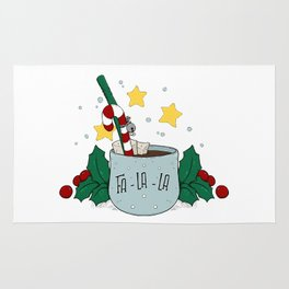 FA-LA-LA Christmas Hot Chocolate Mug Rug