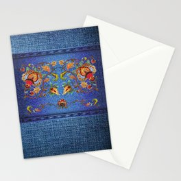 Denim Designs Jacobean Border Stationery Cards