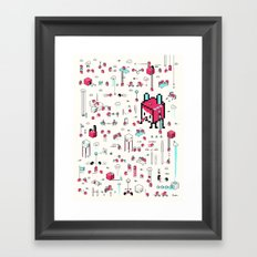 8bit Love Framed Art Print