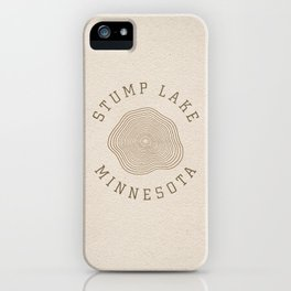 Stump Lake iPhone Case