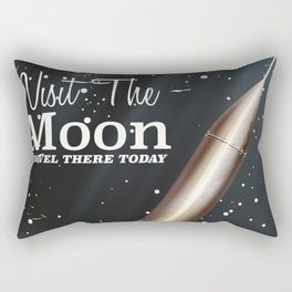 visit the moon vintage science fiction poster Rectangular Pillow