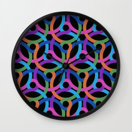 Colorful rings Wall Clock