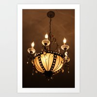 chandelier Art Prints featuring Chandelier by ArtByRobin