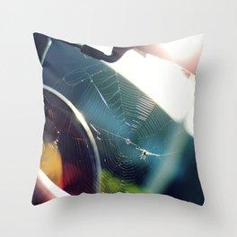 Spiderweb Bike Throw Pillow