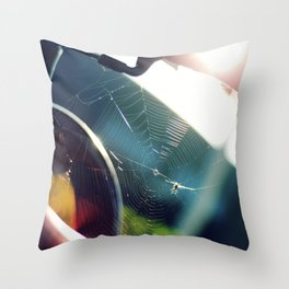 Spiderweb Bike Throw Pillow