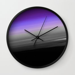 Purple Gray Black Smooth Ombre Wall Clock