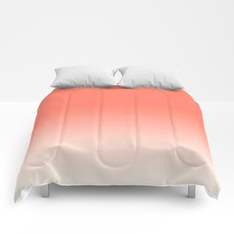 Coral Ombre, Dip Dye, Boho Comforters