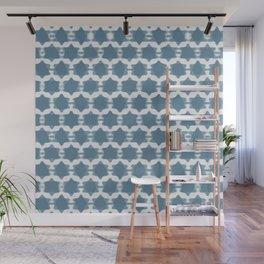 Hexagram Pattern: Blue Wall Mural