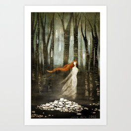 Cairn In The Woods Art Print