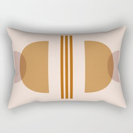 Amber Abstract Half Moon 2 Rectangular Pillow