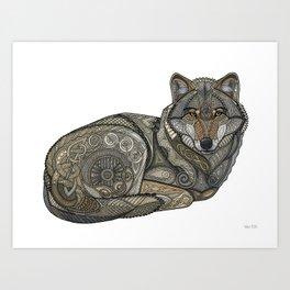 Norse Wolf Art Print