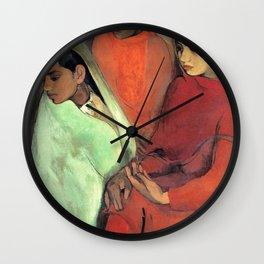 Amrita Sher-Gil - Group of Three Girls - Digital Remastered Edition Wall Clock