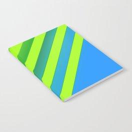 Sky & Lime Chevron Notebook