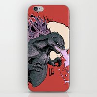 2001 iPhone & iPod Skins featuring Godzilla 2001 by Leonardo LAGONZA Gonzalez