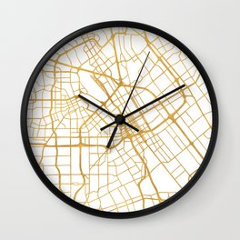 SAN JOSE CALIFORNIA CITY STREET MAP ART Wall Clock