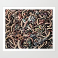 Snakes and Seven Deadly Sins Art Print