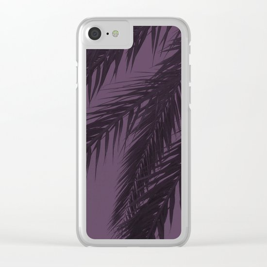 Purple Palm Clear iPhone Case