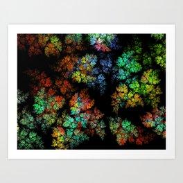 Leaves - fractal art Art Print