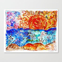 psychedelic sunset #15 Canvas Print