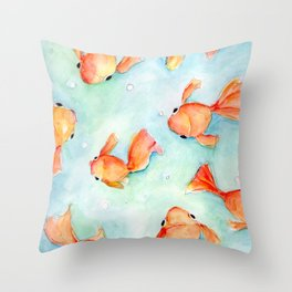 fishies Throw Pillow