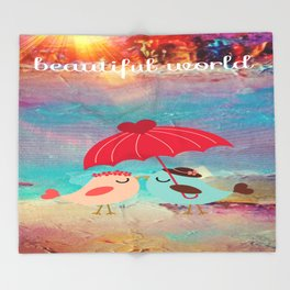 In Love With A Beautiful World Throw Blanket