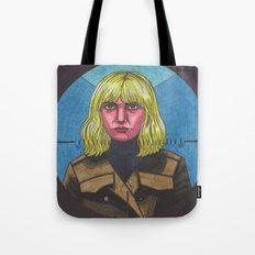 Blue Monday Blonde Tote Bag