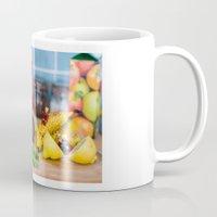 avenger Mugs featuring Avenger - Fruit Wars  by Luke Callow