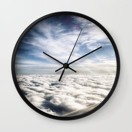 The Edge Between Sky and Space Wall Clock