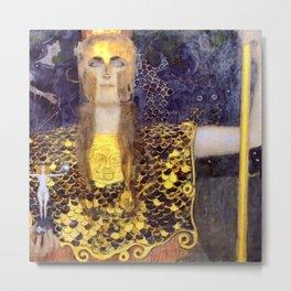 "Gustav Klimt ""Pallas Athene"" Metal Print"