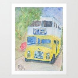 Bus Double-Decker Dennis Art Print