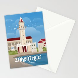 Zakynthos, The bell tower of St. Dionysios (GR) Stationery Cards