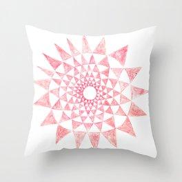 mandala:triangles Throw Pillow